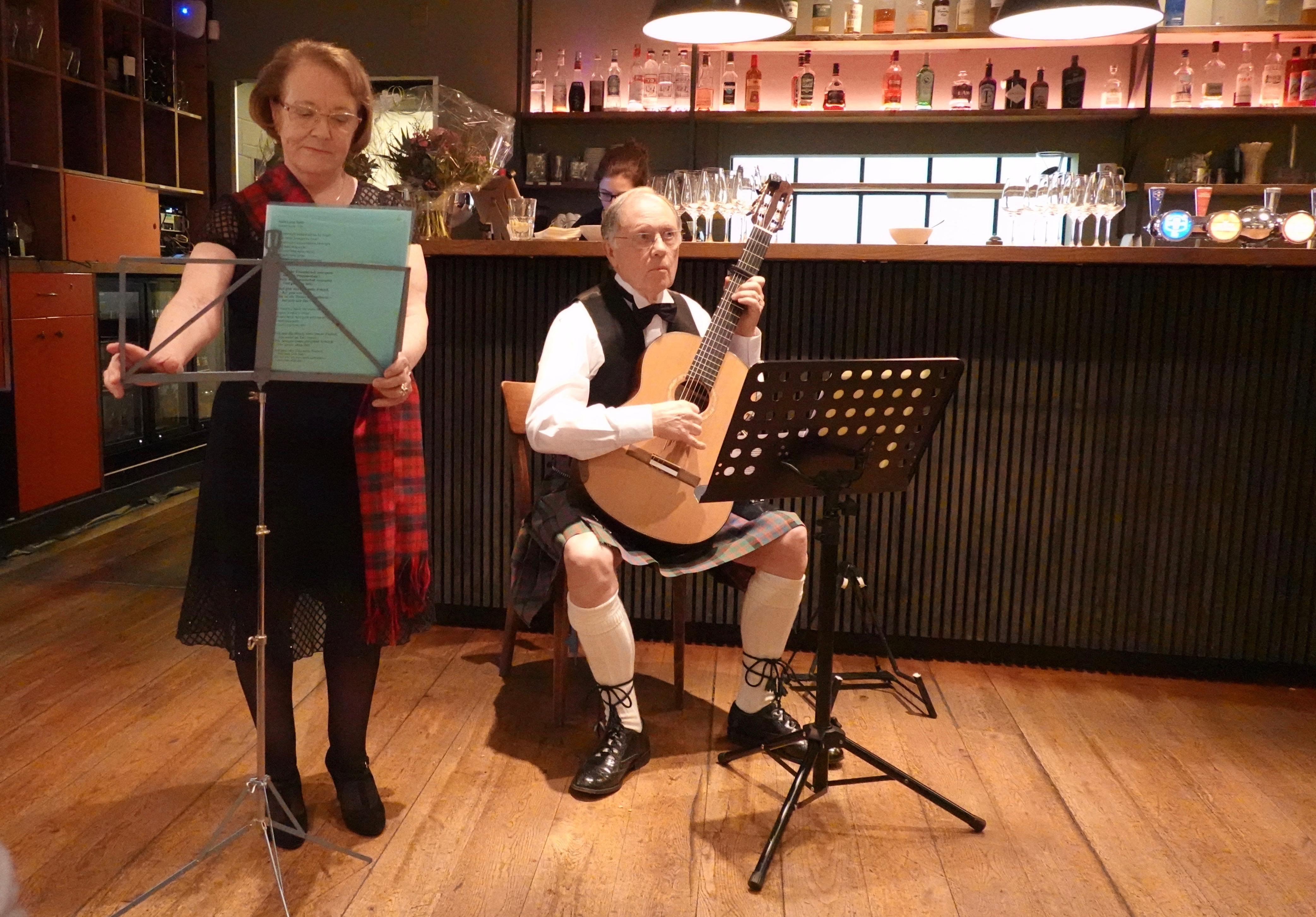 unsere schottischen Freunde Ann und Tom McClymont